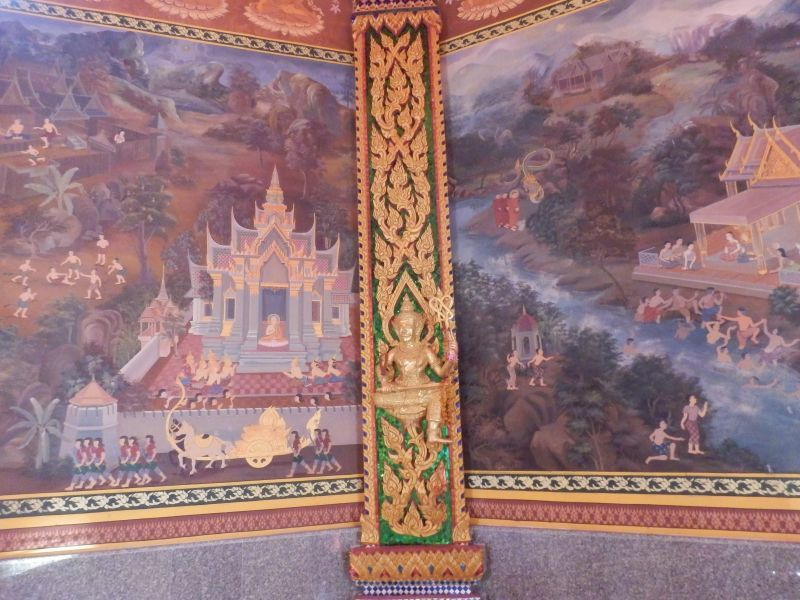 Wandbild im Wat Bang Riang